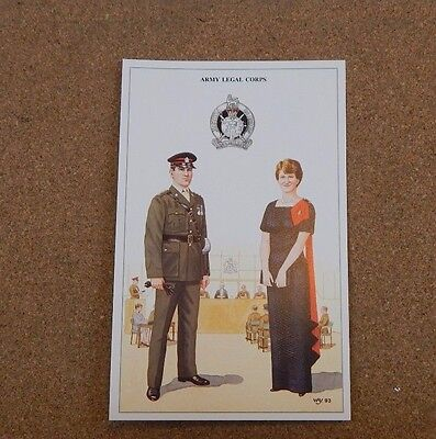 Military Uniforms Postcard Army legal Corps N02 & Mess Dress  Unposted