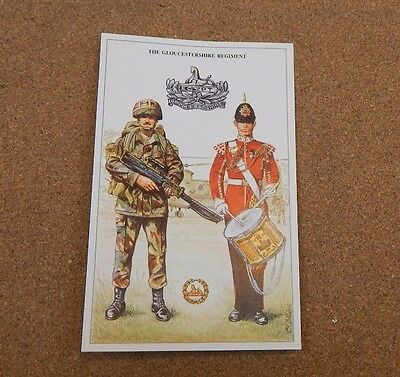 Military Uniforms Postcard The Gloucestershire Regiment  unposted