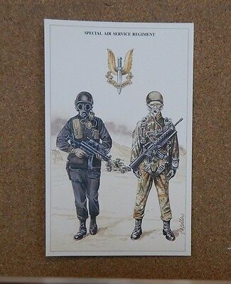 Military Uniforms Postcard Special Air Service SAS Regiment Unposted
