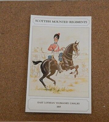 Military Uniforms Postcard East lothian Yeomanry  Unposted