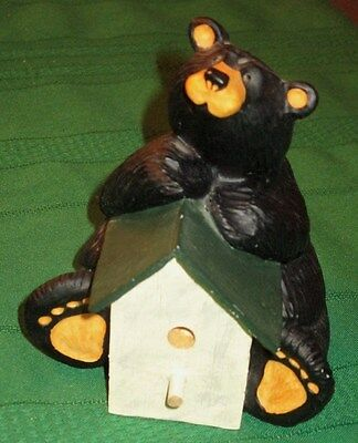 """Singing Tree Bare Footed Bear With Bird House """"gabe"""" By Jeff Fleming"""