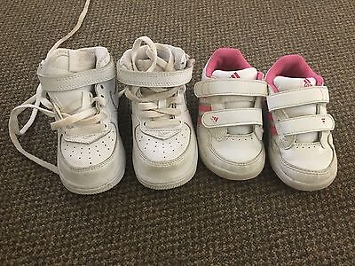 Girls Size 5 Nike And Adidas Shoes