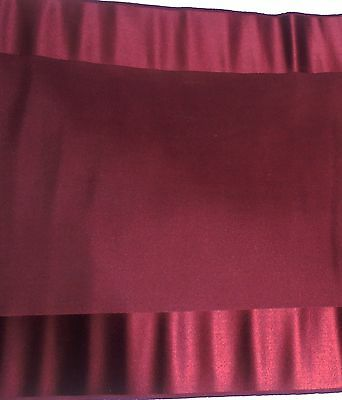 "3+YDS Antique Vintage Maroon Fabric French Doll Dress Fashion LG Piece 14"" WIDE"