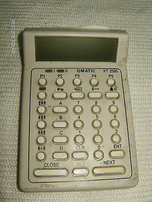 Qmatic Workstation Kt2595 33 Button Ce Made In Sweden