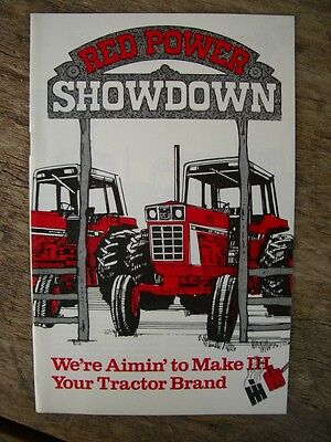 Original Vintage International Harvester Red Power Showdown Flyer Booklet