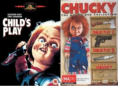 Child's Play 1+2+3+Seed of Chucky Childs New DVD Region 4