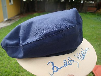 DISNEY signed BUDDY HACKETT  HAT AUTOGRAPHED Little MERMAID Scuttle THE LOVE BUG