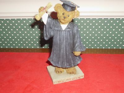 Boyds--Bearstone Collection-Figurine-The Graduate-Time To Celebrate-New