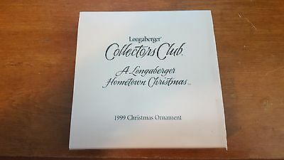 Longaberger Collectors Club Hometown Christmas Ornament 1999 Riding Through Snow