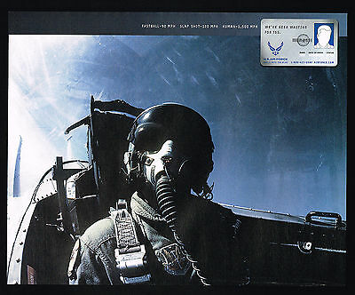 2002 US Air Force Jet Pilot Photo Recruiting Print Ad