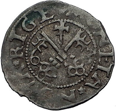 1563 LATVIA as Medieval Livonia ARCHBISHOP of Riga Wilhelm Antique Coin i59485