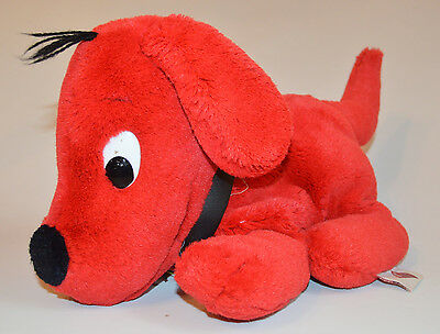 "Clifford the Big Red Dog Dakin Laying Down 1991 Full Body Puppet Plush 12"" (52)"