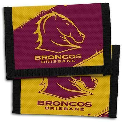 98701 Brisbane Broncos Nrl Team Logo Kids Nylon Wallet Gift Idea