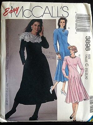 Pattern McCall's 3898 misses' dress, retro 80s Size 10-14