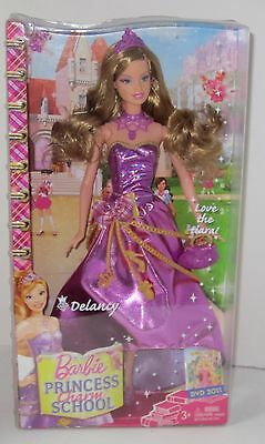 Barbie Princess Charm School Delancy 2010 Purple New in Box V6913