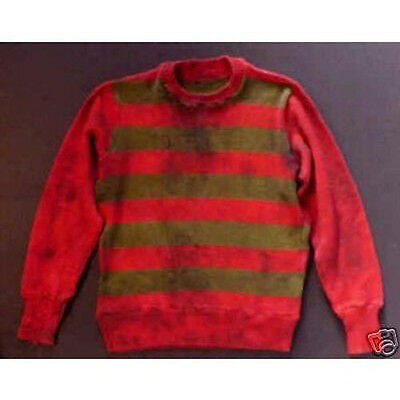 """Freddy Krueger Nightmare Sweater Reproduction # 1  """"Aged and Weathered"""""""