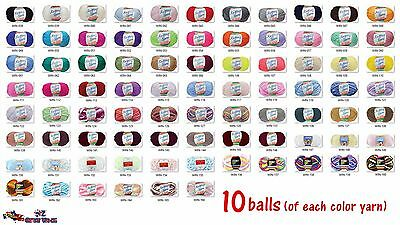 10/14 Balls 8 Ply Yarn Acrylic Crochet Knitting 100g Value Buy Bulk Wholesale
