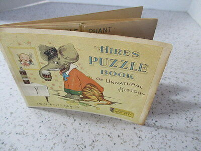 "Antique Trade Card Booklet ""hires Puzzle Book Of Unnatural History"",rare"