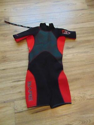 Wetsuit Child Size 12 Bare Red Black 2-3 mm Neoprene