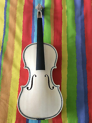 Master 4/4 size violin Hellier model in white full hand made perfect