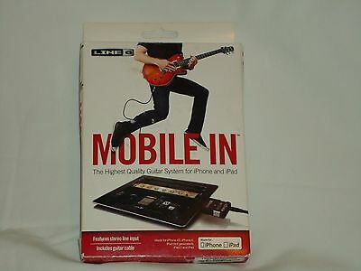 Line 6 Mobile In Audio Interface for iPad & iPhone Stereo Line Input Guitar iOS