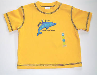 NWT Gymboree *DIVE SHOP* Blue Dolphin Yellow Shirt Top 3-6 mo  HTF!!