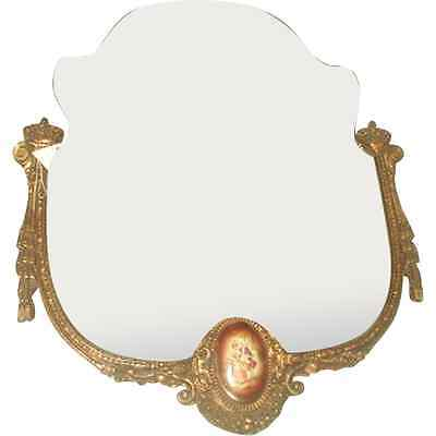 Porcelain Gilt Mirror French Hand Painted C.1900