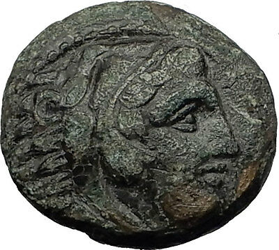 ALEXANDER III the GREAT 323BC Hercules Club Macedonia Ancient Greek Coin i59336