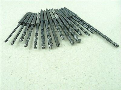 "Lot Of 15 Hss 1Mt Drills 5/16"" To 29/64"" Cleveland Morse"