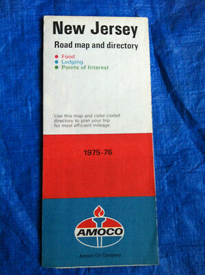 road map New Jersey AMOCO 1976