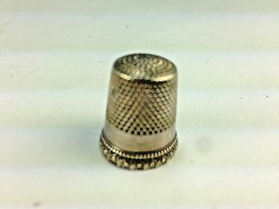 Antique Sterling Silver #9 Thimble