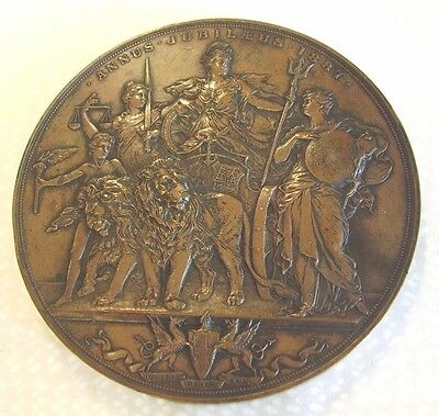 Superb Large 1887 Queen Victoria Golden Jubilee City Of London Medal , Scharff
