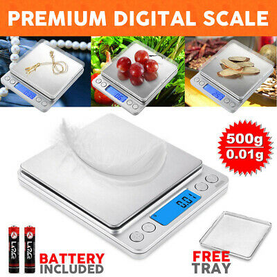 0.01-500g Kitchen Food Scale Digital LCD Electronic Weight Jewellery Scales