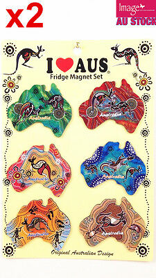 12pcs Souvenir Fridge Magnets Australian Maps Assorted Color Design LY-MGT072x2