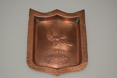 VINTAGE 1920s OAKLAND GENERAL MOTORS COPPER ASHTRAY CAR ADVERTISING PONTIAC TRAY