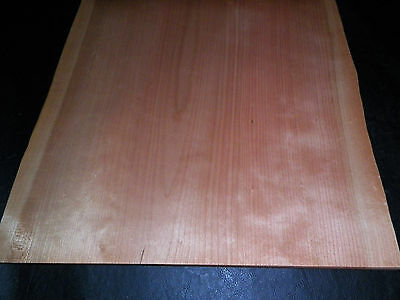Cherry raw wood veneer, 12 sheets @ 15 x 14 inches 1/42nd thick             2456