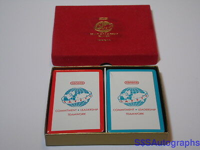 NEW SEALED Vintage CONOCO American Oil Gas Advertising TWO SETS OF PLAYING CARDS