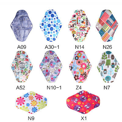 Overnight Charcoal Bamboo Cloth Reusable Menstrual Pads Sanitary Pads 10 Types