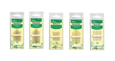 Clover Gold Eye Needles Sharps Tapestry Embroidery Milliners SELECT YOUR DESIGN!