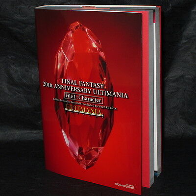 Final Fantasy 20th Anniversary Ultimania Character Hen Game Art BOOK NEW
