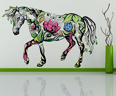 Removable Flower Horse Hollow Wall Stickers Room Decor PVC Mural Art Gifts
