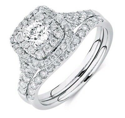 Michael Hill WG New Engagement And Wedding Diamond Rings