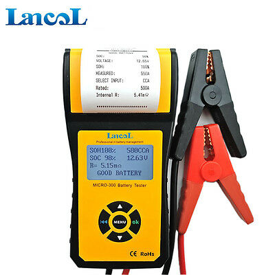 Newest  Auto car battery tester with printer MICRO-300 Battery Health Checker