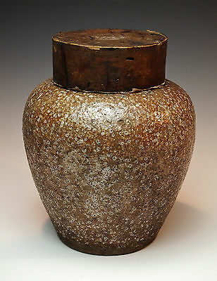SUPERB 1700s ANTIQUE JAPANESE SHIGARAKI TEA JAR Rare Dated Pottery Chado Mingei