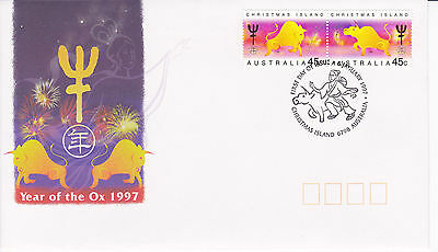 Christmas Island 1997 Year of the Ox FDC