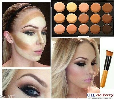15 Color Concealer palette with Brush Face cream Makeup   , Palette #2