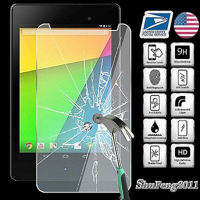 2x for Asus Google Nexus 7 2nd Gen2 2013 Tempered Glass Screen Protector ZVSP996