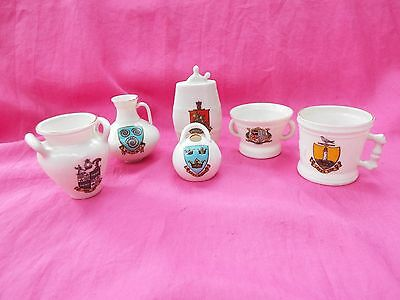 W H GOSS  Vintage Six Models of Crested China