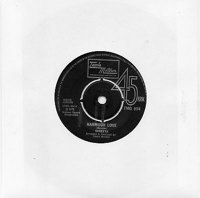 """""""Harmour Love""""/"""" What Love Has Joined Together"""" Syreeta TMG 954 VINYL MOTOWN VG"""