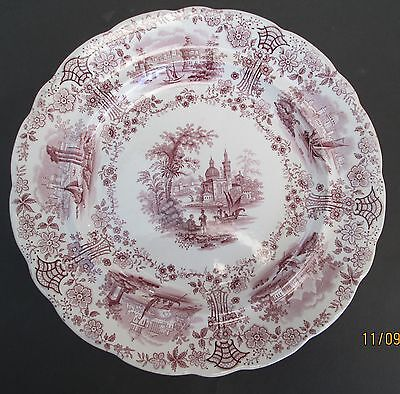 Immaculate!! Antique 1840 Ridgway Display Plate, Mulberry Colour, As New
